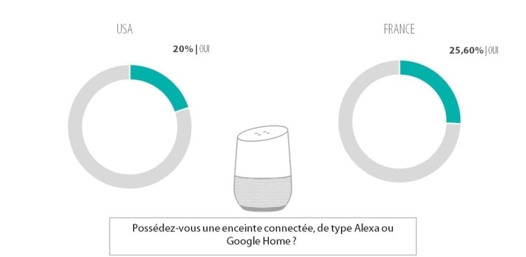 Qui possède une enceinte connectée de type Google Home ou Amazon Echo ?